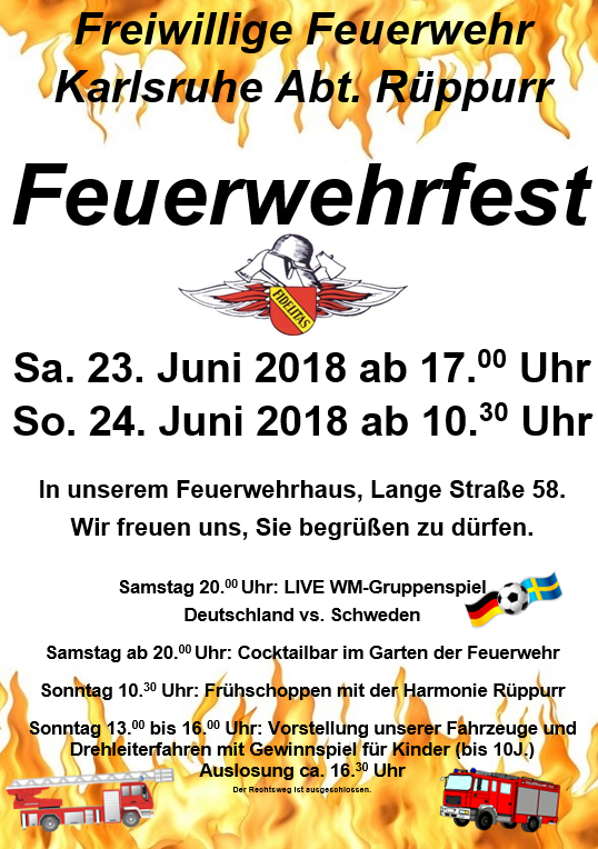 Feuerwehrfest @ Feuerwehr Rüppurr | Karlsruhe | Baden-Württemberg | Deutschland